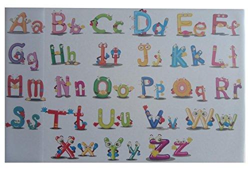Schreibtischunterlage 58,5x38,5cm / mit Alphabet