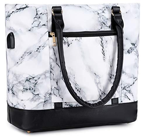 Bolso de mujer para portátil de 15,6 pulgadas, bolso para el hombro, bolso de mano para ordenador portátil o de negocios.