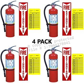 4-20 Lb. Victory Type ABC Dry Chemical Fire Extinguisher with Wall Hooks, Signs and Inspection Tag