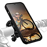 Morpheus M4s iPhone 12 PRO MAX Bike-Kit Fahrradhalterung - Handyhalterung Fahrrad iPhone 12PRO MAX - Halterung & iPhone 12 Pro Max Hülle magnetisch fürs Rad, DropTest, mit Quick Lock, Bike Kit schwarz