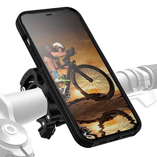 Morpheus M4s iPhone 12 PRO MAX - Soporte de bicicleta para iPhone 12PRO MAX - Soporte y carcasa magnética para bicicleta, DropTest, con cierre rápido, color negro