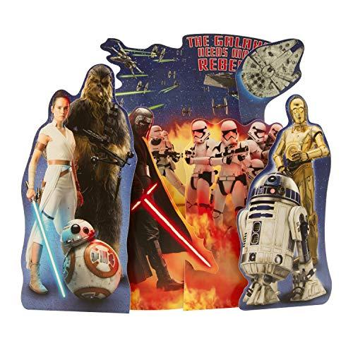 Hallmark - Tarjeta de felicitación de cumpleaños con diseño de rebelde de Star Wars