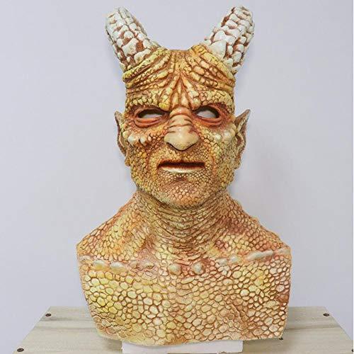 Máscara De Látex De Demonio Cabeza De Ira De Dragón Negro, Accesorios De Cosplay De Halloween, Disfraz De Bola De Mascarada, Juguetes Suaves De Airsoft Para Cosplay