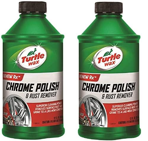 Turtle Wax T-280RA Chrome Polish & Rust Remover - 12 oz. - 2 Pack