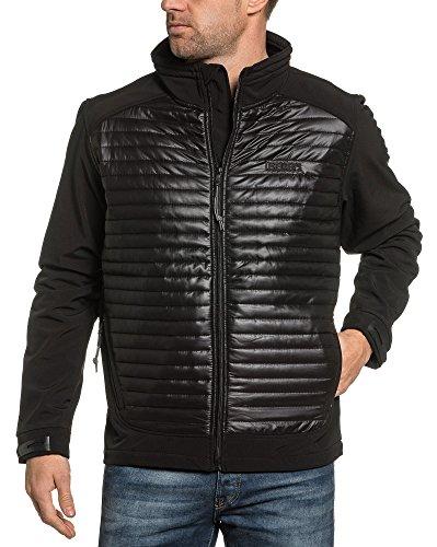 Legender`s Reißverschluss gesteppt Schwarze Jacke Winddicht - Size: M, Color: Schwarz