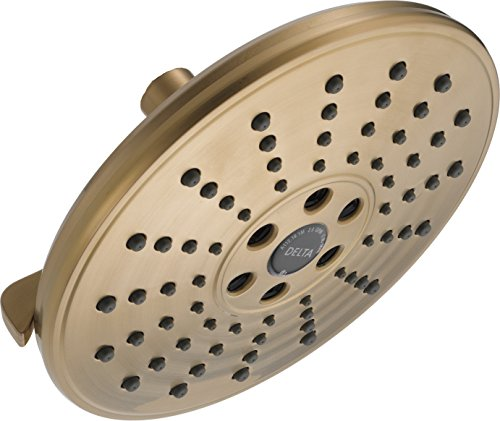Delta 52688-CZ 3 Setting H2O kinetic Transitional Raincan Showerhead, Champagne Bronze