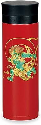ミタニ 山中漆器 マグボトル 赤 300ml 山中塗 ステンレス マグボトル 風神雷神 M17322-2