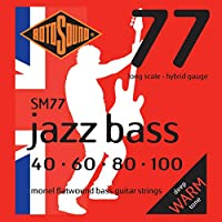 Rotosound ロトサウンド ベース弦 Monel Flatwound Long Scale/Hybrid (.040-.100) SM77