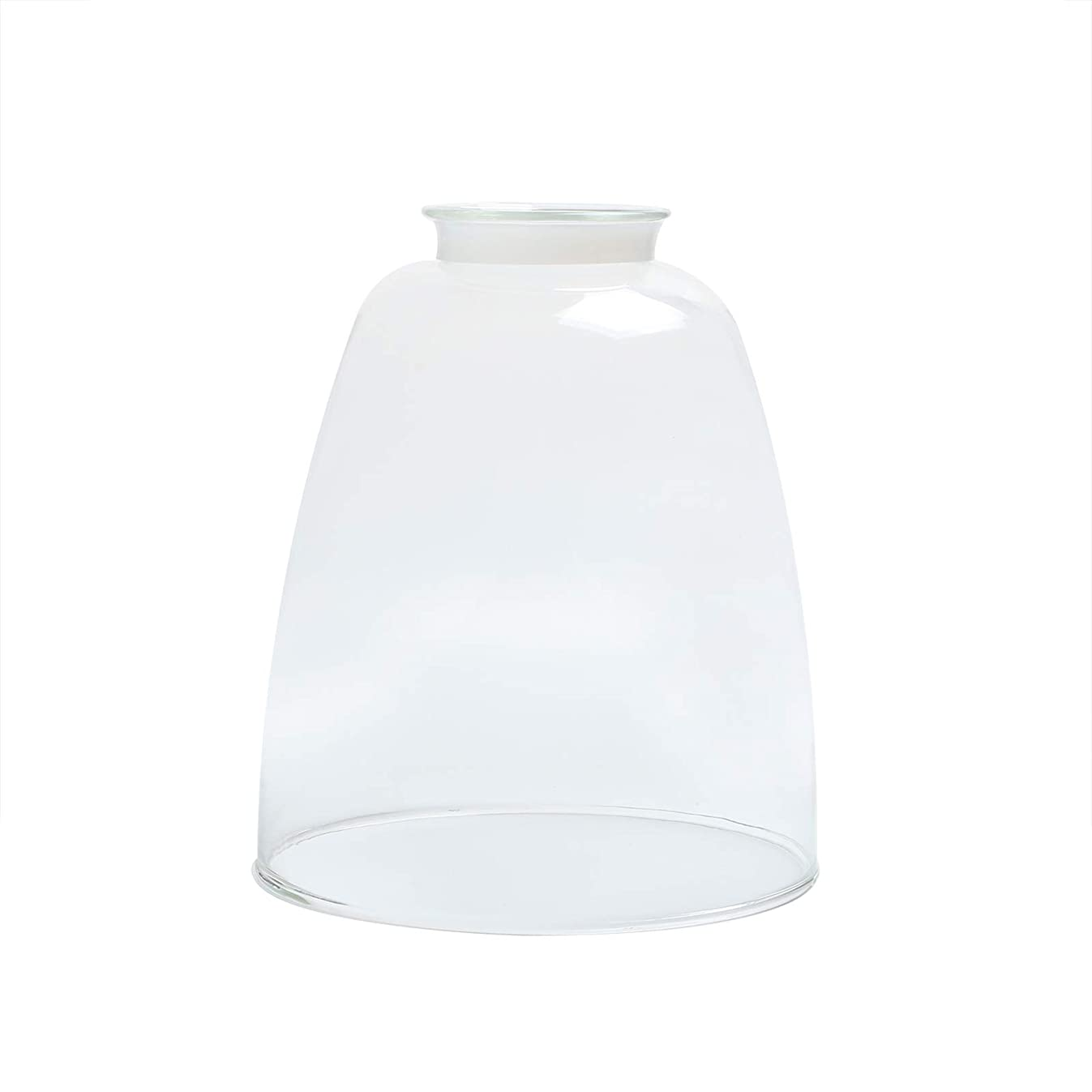 Permo Lighting Fixture Replacement Oval Cone Clear Glass Shade
