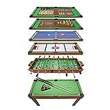 PLAY4FUN Table Multi Jeux 20 en 1 sur Pied, Table de Jeux Multifonction avec Plateaux Modulables et Accessoires pour 20 Jeux différents, 122 x 61 x 84 cm