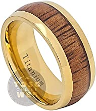 Mens 7mm Dome High Polished Titanium Wedding Band Ring FREE ENGRAVING Comfort Fit Anniversary Ring Ti2652