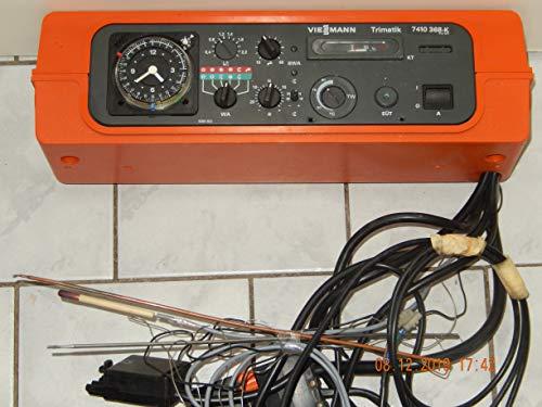 VIESSMANN Trimatik 7410 368-K Heizungsregelgerät mit analogen Schaltuhr, 3 Kesselfühler, Kabel mit Adapter, geprüft ist voll funktionsfähig
