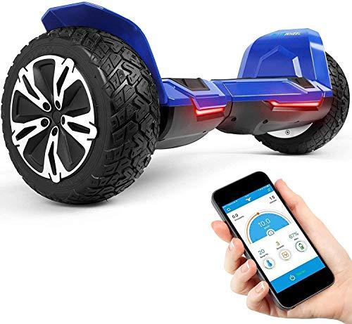 8.5' Self Balance Board Skateboard Elettrico Bluewheel HX510 con Standard di Sicurezza UL2272, Impostazione Colore Tramite App, Bluetooth Altoparlante Motore 700W, LED, con cover di alluminio (Blu)
