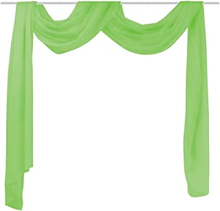 vidaXL Voilage Rideau drapé Vert 140 x 600 cm pour Salons Chambres Bureaux