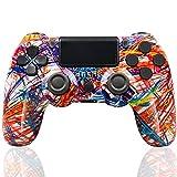 Mando Inalámbrico para PS4, Controlador de Juegos con vibración Dual/Panel táctil/Conector para Auriculares/Sensor de Seis Ejes, para Consola PS4 / Slim/Pro