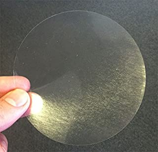 Clear Envelope Seals Extra Large 4 Inch Round Envelope Seal Stickers Package Seals Great for Mailing Seals Used on Large Envelopes and Boxes Wafer Seals Can Sub for Clear Sealing Tape