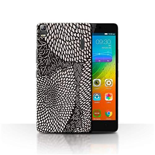 Stuff4 Phone Case for Lenovo K3 Note/K50-T5 Black Fashion Tiny Petals Transparent Clear Ultra Slim Thin Hard Back Cover