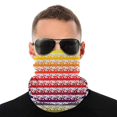 AOOEDM líneas de colores con salpicaduras bufanda de moda para la cara, pañuelo de enfriamiento mágico a prueba de viento a prueba de polvo variedad para deportes al aire libre