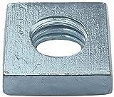 AERZETIX - Juego de 100 tuercas cuadradas M3 planas perfil bajo 6.0x2.0mm rosca métrica hembra - en acero al carbono - DIN 562 - C49556