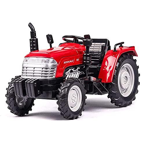 markc Simulación 1: 32 Coche modelo de tractor agrícola con sonido y luz que puede abrir la puerta Modelo de coche de tractor de aleación Tire hacia atrás Coche de fricción Regalo de cumpleaños para n