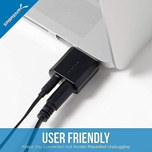 Sabrent USB Externe Soundkarte für Windows und Mac. External Sound Card Stereo Adapter for Windows und Mac. Plug and Play. Keine Treiber erforderlich. (AU-MMSA)