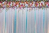 Fondo de fotografía Flor florete Boda Casarse bebé recién Nacido cumpleaños telón de Fondo Accesorios de Estudio fotográfico A9 5x3ft / 1,5x1 m