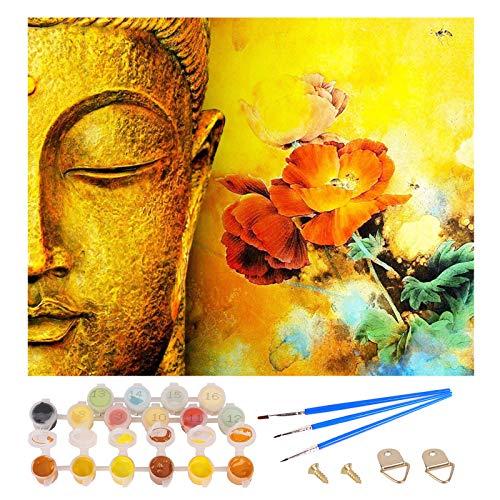 Herefun Pintura por Números, DIY Pintura al óleo Kit de Pintura por Números, Colorido Pintar Numeros DIY Pintura al óleo para Niños Principiantes Adultos, Regalo Pintura óleo Decoraciones Hoga