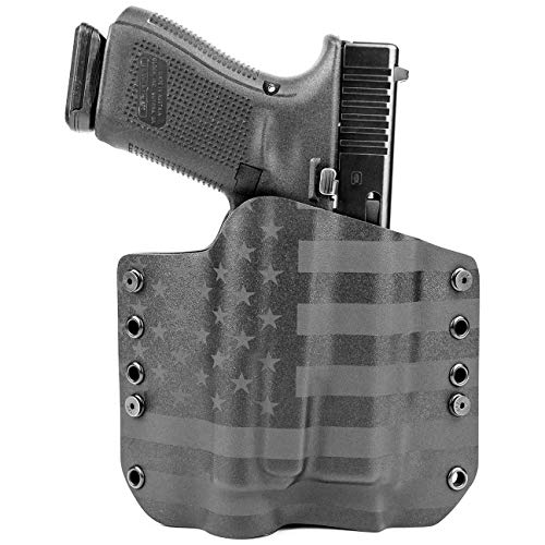 Outlaw Holsters OWB Holster for Streamlight TLR-1 - Stealth Black USA (Right-Hand, Fits Glock 19,23,32 - Gen 3, 4 & 5 Compatible)