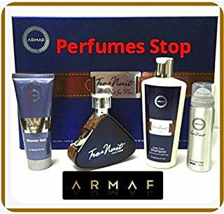Tres Nuit By Armaf 4 Pc Gift Set Edt for Men 3.6 Oz+sh/g +Sampoo/c+bodyspray