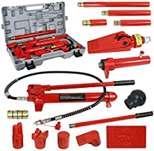 SUPER DEAL Red Porta Power Hydraulic Jack Body 10 Ton Frame Repair Kit Auto Shop Tool