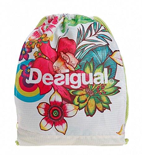 Desigual Mujer funda Bols bordar T, Beige, 0.1X 0.1X 0.1cm, 1L, 60x...