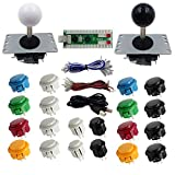 SJ@JX 2 Players DIY Arcade Game Button And Joysticks Controller Kits for Raspberry Pi And ...