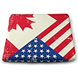 Funny Z Almohadillas de Silla de Espuma de Elasticidad Antideslizante de Bandera Estadounidense y Canadiense Cojín de Asiento Cuadrado para Sofá de Oficina Hogar