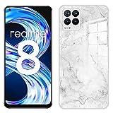 IEMY Funda para Realme 8 4G / Realme 8 Pro 4G, Carcasa de Gradient Watercolor Case Gel de Sílice Líquido Antichoque Bumper para Realme 8 4G / Realme 8 Pro 4G - Mármol
