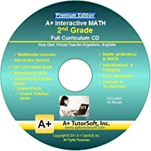 2nd Grade Math Full Curriculum SW CD Premium Edition (Windows PC - Video Lessons, Interactive Review, Worksheets, Tests, Grading N Tracking) - Homeschooling or Classroom