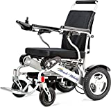 Miracle Mobility Freedom Series Gold XL Electric Folding Mobility Wheelchair with Two 250W Motors and Two 24V, 144Wh Lithium Ion Batteries, Silver