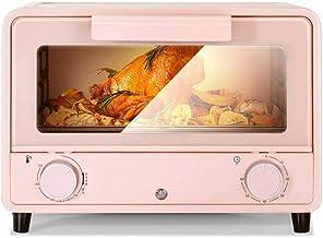 JYKXA Hogar mini horno, de acero inoxidable tubo de calefacción de seguridad a prueba de explosiones for hornear horno eléctrico pequeño (rosa)