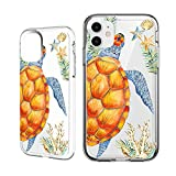 Shark Summer Aloha Ocean Collection Sea Shell sea Turtle Clear Back case for iPhone 11 Pro Max