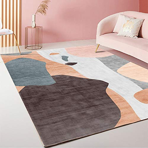 LMDY carpet modern light luxury style home decoration living room carpet bedroom bedside mats hotel abstract geometric brown carpet160*230cm