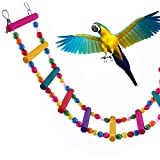 ZhongYeYuanDianZiKeJi Juguete de Pajaros Ave Escalera Columpio de Pájaros...