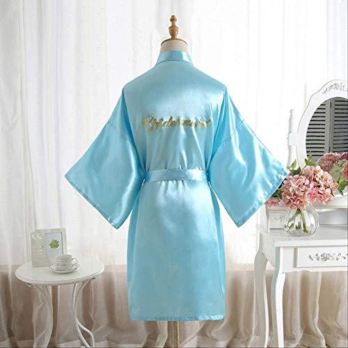 XFLOWR Dames Zijde Satijn Bruidsmeisje Bruid Jurk Korte Bruiloft Kimono Robes Maid Eer Moeder Bruid Slaapmode Nachtjapon