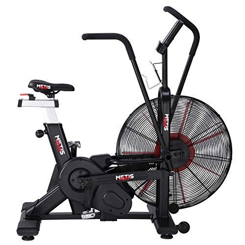 Bicicleta Assault METIS Fury | Bicicleta Estática de Interior para Cardio-Fitness | Assault Bike con Resistencia al Aire | Bicicleta para Crossfit con 7 Programas de Ejercicio