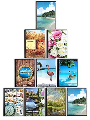 Poesia & Ritratto 10 ALBUM portaFOTO 13x19 26 tasche per 52 stampe+2 copertina. Totale 540 foto. Copertina e retrocopertina personalizzabili. Materiali e finiture di qualità made in Italy. (13x19)