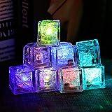 YChoice365 Beleuchten Sie Eiswürfel, buntes LED-Cocktail-Zubehör, wiederverwendbare Party-Bar-Getränke, Whisky-Weindekoration, automatisch leuchtenden Eisblock