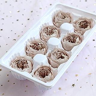 1箱8本の永遠の花バラの花の直径4〜5センチメートルプリザーブドフラワーギフトボックス HYFJP (Color : グレー, Size : M)