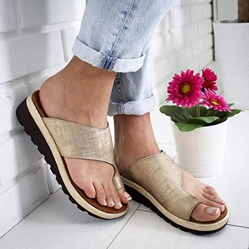 JFFFFWI Sandalias con Plataforma para Mujer Zapatillas ortopédicas Corrector de juanetes Cómodas...