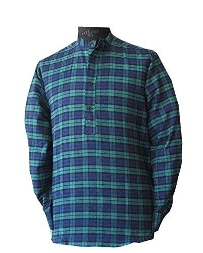 McLaughlin's Irish Shop Irisches Grandfather Hemd aus Baumwollflannel (L)