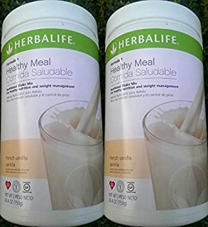 2 HERBALIFE FORMULA 1 NUTRITIONAL SHAKE FRENCH VANILLA MIX Shipped from USA And Fast Shipping