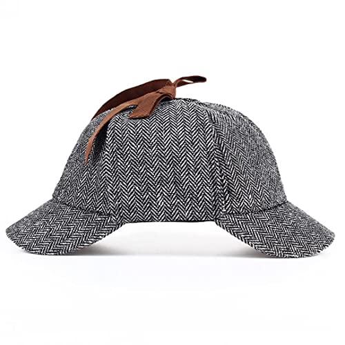 TOSSPER 1pc Sherlock Holmes Detective Hat Cosplay Accesorios Boinas Hombres Mujeres Dos Rebosantes Beret Deerstalker Hat