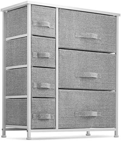 7 Drawers Dresser Furniture Storage Tower Unit for Bedroom Hallway Closet Office Organization product image